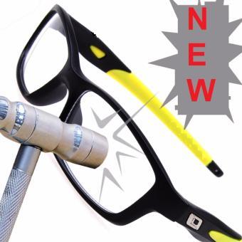 Mua Mắt kính nam phân cực gọng dẻo cực bền Unisex NEW 2017+Tặng bao da H182(Đen vàng) giá tốt nhất