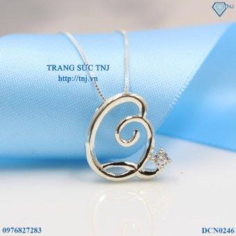 Dây chuyền bạc nữ mặt chữ Q đẹp DCN0246 Trang Sức TNJ