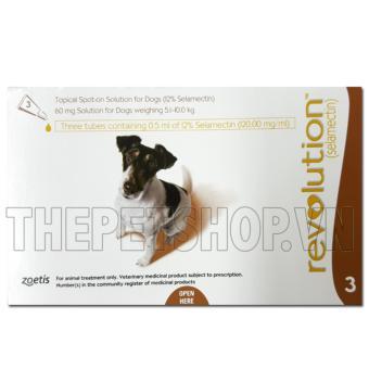 Thuốc nhỏ gáy trị ve rận và bọ chét Revolution Dog 60mg (5-10kg) tuýp lẻ