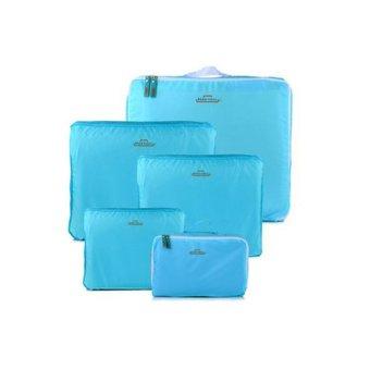 Bộ 5 Túi Du Lịch Bags In Bag Giúp Gọn Hành Lý (Màu Xanh)