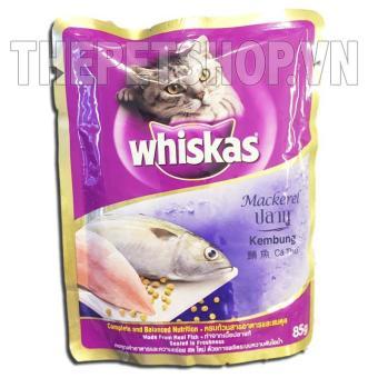 Mua Bộ 10 gói Pate Cá thu cho mèo Whiskas Kembung 85g giá tốt nhất