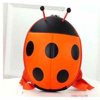 Balo hình con bọ màu cam cho bé trai