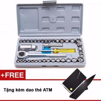 Bộ dụng cụ sửa chữa ô tô xe máy tặng kèm dao AMT