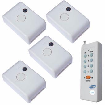 Bộ 04 công tắc điều khiển từ xa công suất 4000W TPE RC1A + remote 8 nút