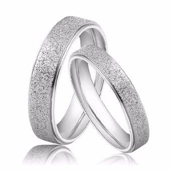 Nhẫn cặp mạ cát N116 (Màu bạc)