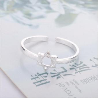 Nhẫn nữ mặt hình ngôi sao Simple Style phong cách Châu Âu (NN09)