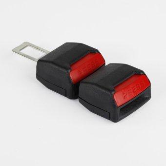 Bộ 2 đầu khóa chốt cắm móc đai dây an toàn xe hơi ô tô