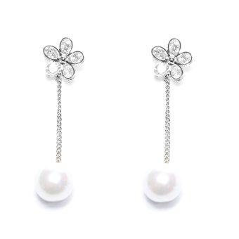 Bông tai bông hoa nhỏ xinh xinh bt-1011b-199 (Xi bạch kim)