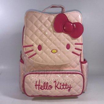 Balo đi học,đi chơi dành cho NỮ,hình Hello Kitty 25cmx32cmx17cm ,DA BÓNG không thấm nước