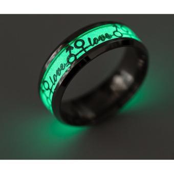 Nhẫn nam dạ quang phát sáng phong cách Âu Mỹ NN025