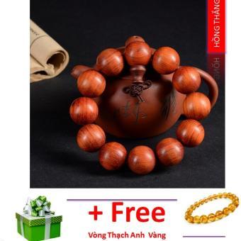 Vòng tay phong thuỷ gỗ Hồng Hạc - Phong thuỷ may mắn và sức khoẻ
