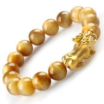 Lắc Opal Vàng Tỳ Hưu Bạc Mạ Vàng 24K