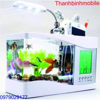 Bể cá mini phong thủy cho bàn làm việc (Trắng)