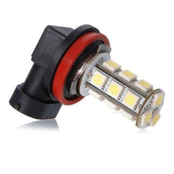H8 18 LED 5050 SMD Car Auto Day Driving Fog Headlight Lamp Bulb DC12V (White) (Intl)