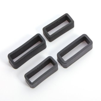 Black PVC Watch Strap Retaining Hoop Loop Rubber Retainer Buckle Holder 4 Sizes - intl
