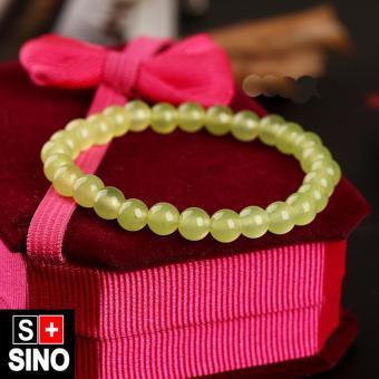 Vòng tay thạch anh màu vàng chanh Sino VTSN024