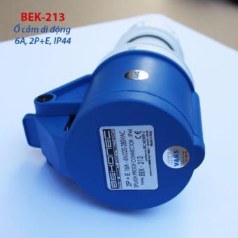 Bộ phích cắm và ổ cắm di động BEKONEC 16A, 2P+E, IP44 -sản xuất tại Ý (Italy)