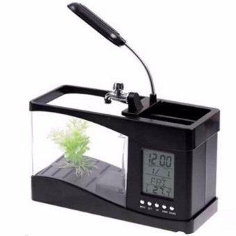 Mua Bể cá mini kiêm đồng hồ để bàn (đen) giá tốt nhất