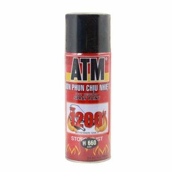 Sơn Xịt Chịu Nhiệt Độ Cao ATM H660 (sơn đen)