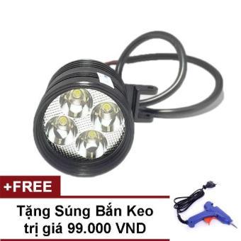Đèn Led trợ sáng xe máy L4 - CYT + Tặng Súng Bắn Keo Nến