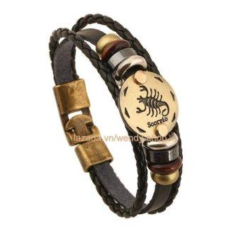 Vòng đeo tay Nam hình 12 chòm sao hoàng đạo cung Scorpio - Bọ Cạp - VĐT12