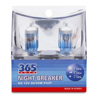 Bộ 2 bóng đèn ô tô 365-Auto H4 Night Breaker 12V