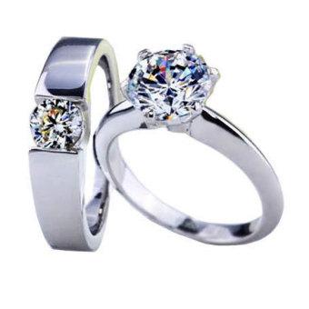 Nhẫn cặp đá Kim cương nhân tạo NC31