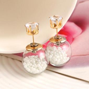 Khuyên Tai đá Ngọc trai trắng