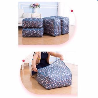 Túi đựng chăn màn, quần áo chống thấm (hoa xanh)