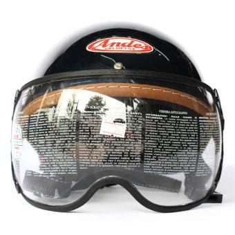 Mũ bảo hiểm ANDES Haly 180B trơn (Xanh tím than)