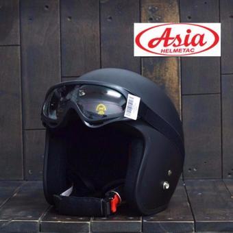 Nón bảo hiểm 3/4 đầu Asia - hàng phân phối chính hãng + tặng kính uv