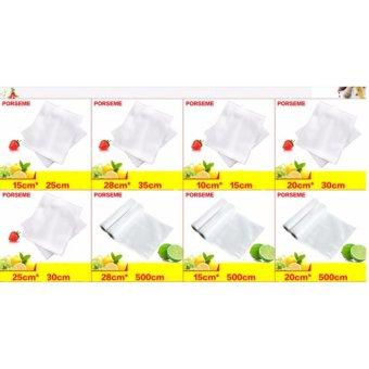 Bộ 100 túi bóng hút chân không cao cấp dành cho máy hút chân không (15x25cm)