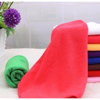 Bộ 5 khăn lau ô tô Micro Fiber siêu mịn GK-368 kích cỡ 30x60cm (Đỏ tía)