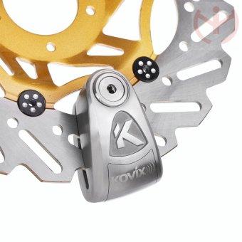 Khóa đĩa xe máy KOVIX KAL6-SS (Inox)