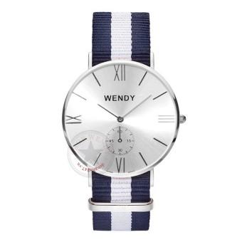 Đồng hồ nam dây vải Wendy CH217-1 (Bạc)