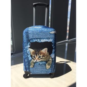 Túi (Bao) bảo vệ vali Mèo jean size S
