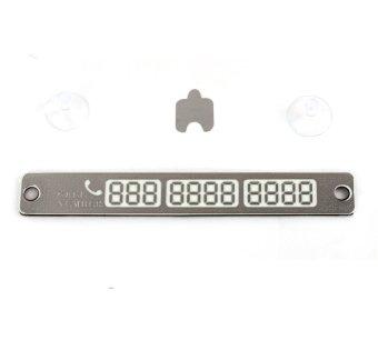 Thanh sắt dán số điện thoại lên kính xe ô tô ( Trắng bạc )