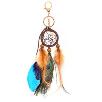 Handmade Dreamcatcher feathers Car Wall Gift Keychain - INTL