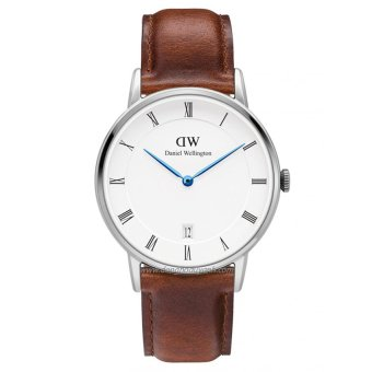 Đồng hồ Unisex dây da Daniel Wellington 1140DW (Nâu).