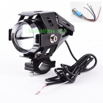 Đèn pha LED U5 Transformers 12V~80V dùng cho xe gắn máy (Đen) + Tặng kèm bộ nút nhấn