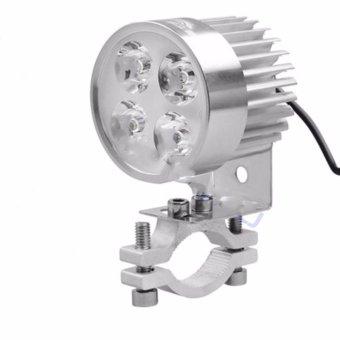 Đèn pha trợ sáng 4 LED siêu sáng dành cho xe mô tô, xe điện (có giá đỡ)