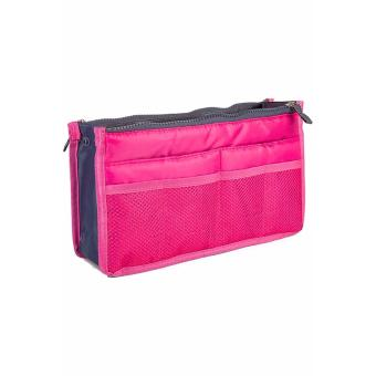 Túi vải dù 13 ngăn đựng đồ cá nhân ( hồng đậm)