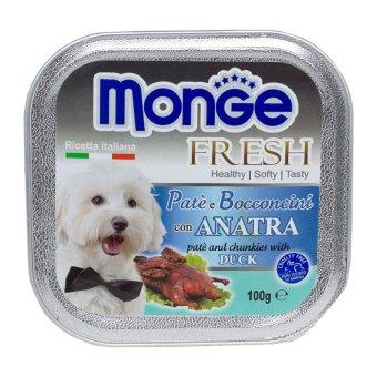 Pate bổ sung dưỡng chất cho chó vị vịt Monge Duck (Ý)
