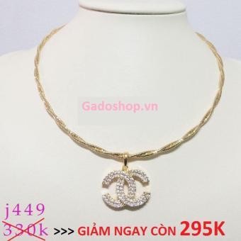 Kiềng Cổ Xi Vàng 18K Chanel Pha Lê GADOSHOP