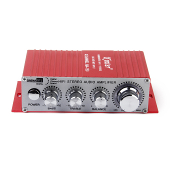 Red Mini Car Motorcycle MP3 MP4 Hi-Fi Stereo Audio Amplifier with USB Output - Intl
