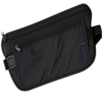 Professional Outdoor Running Sports Anti Theft Inner Waist Bag Pouch Black - intl
