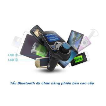 Tẩu sạc kiêm máy nghe nhạc MP3, FM và kết nối bluetooh đa chức năng - phiên bản cao cấp T11
