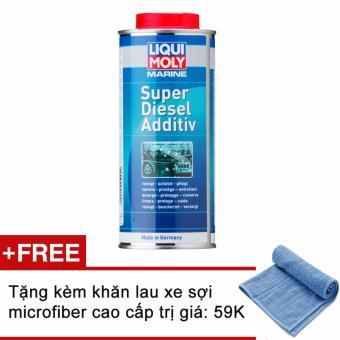 Phụ gia bảo vệ và tăng hiệu suất cho động cơ Diesel Tàu thuyền Liqui Moly Marine Super Diesel Additive 1l ( tặng kèm khăn )