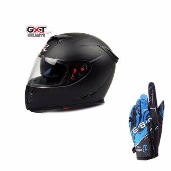 Mũ bảo hiểm Full Face cao cấp + Găng tay thể thao chống thấm (Màu xanh)