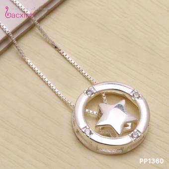 Bộ dây chuyền liền mặt nữ trang sức bạc Ý S925 Bạc Xinh Hình ngôi sao may mắn PP1360